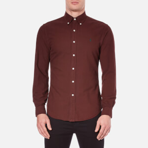 Polo Ralph Lauren Men's Long Sleeve Button Down Shirt - Harvard Wine