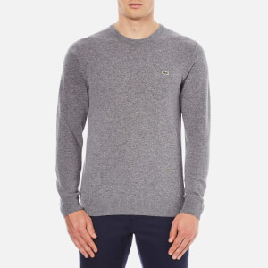 Lacoste Men's Crew Neck Sweatshirt - Stone Chine