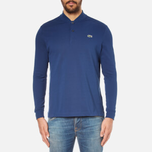 Lacoste L!ve Men's Long Sleeve Teddy Collar Polo Shirt - Jazz