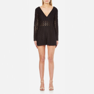 MINKPINK Women's Rumour Has It Playsuit - Black