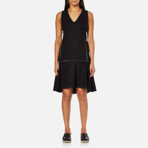 Karl Lagerfeld Women's Punto Dress With Zip Detail - Black
