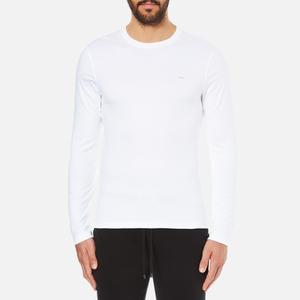 Michael Kors Men's Long Sleeve Sleek MK Crew Top - White