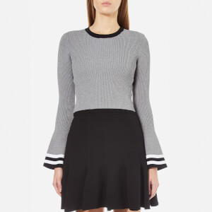 C/MEO COLLECTIVE Women's There Is A Way Long Sleeve Stripe Jumper - Grey Marle