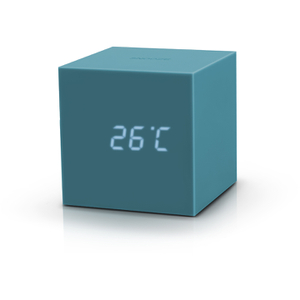 Gingko Gravity Cube Click Clock - Teal