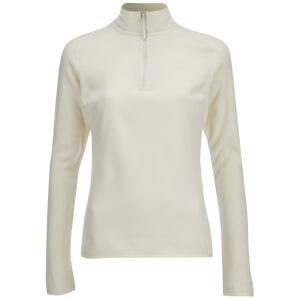 The North Face Women's 100 Glacier 1/4 Zip Fleece - Vintage White