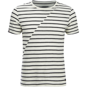 Produkt Men's Deko Asymetric Stripe T-Shirt - Cloud Dancer