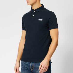 Superdry Men's Classic Pique Polo Shirt - Eclipse Navy