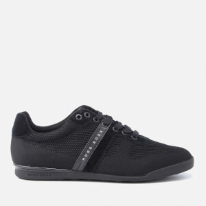 BOSS Green Men's Arkansas Knitted Suede Trainers - Black