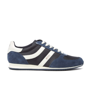 BOSS Orange Men's Orland Runn Nylon Trainers - Navy