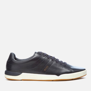 BOSS Orange Men's Stillness Tenn Leather Trainers - Dark Blue