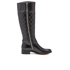 MICHAEL MICHAEL KORS Women's Fulton Harness Quilted Leather Knee High Boots - Black