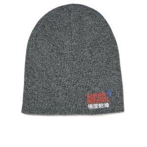 Superdry Men's Windhiker Embroidery Beanie Hat - Coal Grey Twist