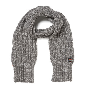 Superdry Men's Super Cable Scarf - Grey Granite Twist