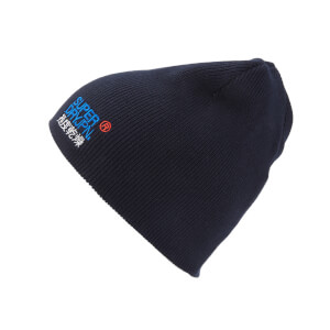 Superdry Men's Windhiker Embroidery Beanie Hat - True Track Navy