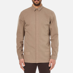 Helmut Lang Men's Canvas Long Sleeve Shirt - Shale Green