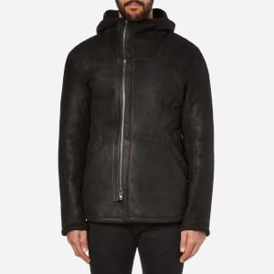 Helmut Lang Men's Luxe Shearling Jacket - Black