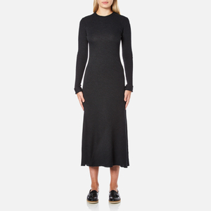 Helmut Lang Women's Double Rib Knit Detached Cuff Dress - Heather Grey