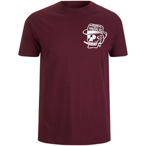 Rum Knuckles Men's Classic Logo T-Shirt - Burgundy