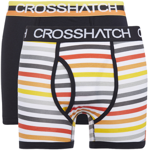 Lote de 2 bóxers Crosshatch Refraction - Hombre - Negro