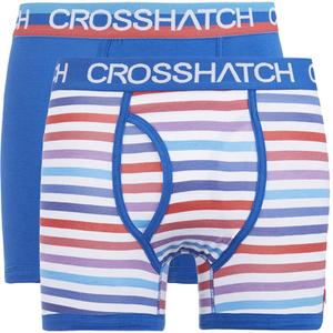 Lote de 2 bóxers Crosshatch Refraction - Hombre - Azul