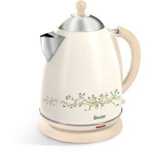 Swan SK261050EBN 1.7L Eternal Beau Pattern Jug Kettle - Cream
