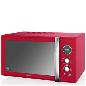 Swan Retro 25L Digital Combi Microwave with Grill - Red