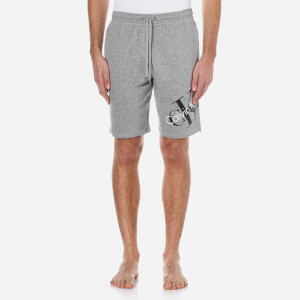 Calvin Klein Men's Large Logo Shorts - Mod Grey Heather