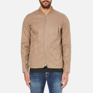 Folk Men's Zipped Bomber Jacket - Taupe