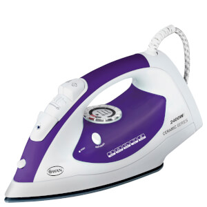 Swan SI3030N 2400W Ceramic Sole Plate Iron - Plum
