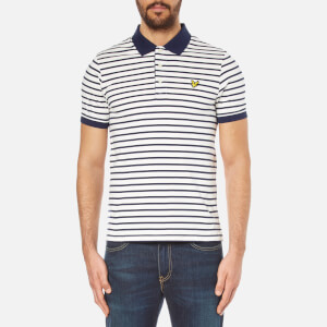 Lyle & Scott Men's Short Sleeve Breton Stripe Polo Shirt - Off White