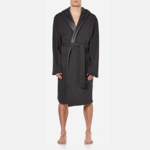 UGG Men's Heritage Comfort Brunswick Dressing Gown - Black Bear Heather