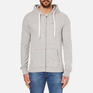 Tommy Hilfiger Men's Icon Zip Through Hoody - Grey Heather