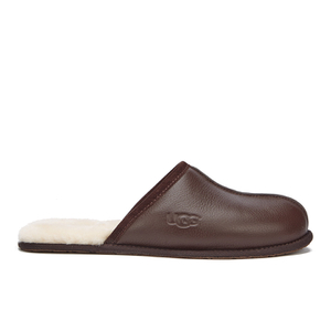 UGG Men's Scuff Leather Sheepskin Slippers - Stout