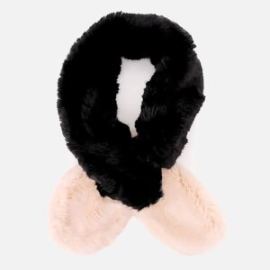 Ted Baker Women's Avril Two Tone Detail Fur Scarf - Black