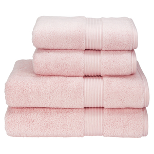 Christy Supreme Hygro 4 Piece Bath Towel & Bath Sheet Bundle - Pink
