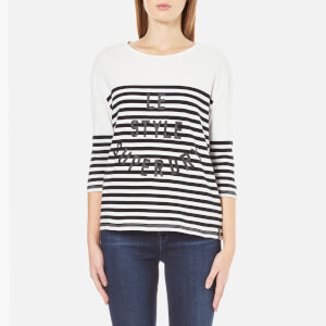 Superdry Women's Nordic Bretton T-Shirt - Black/White