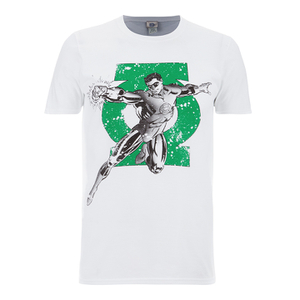 T-Shirt DC Comics Green Lantern Punch - Blanc