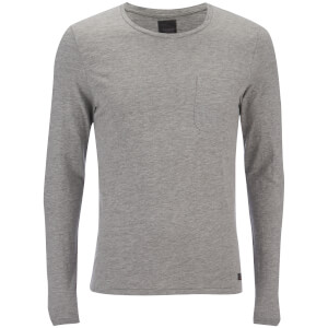 Produkt Men's Slub Pocket Long Sleeve Top - Light Grey Melange