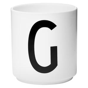 Design Letters Porcelain Cup - G