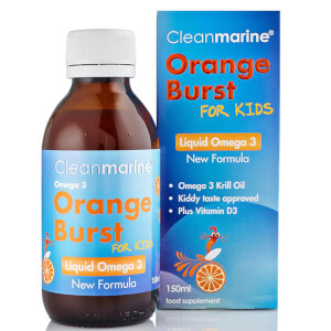 Cleanmarine Krill Oil for Kids Orange Burst Liquid Omega 3 - 150 ml