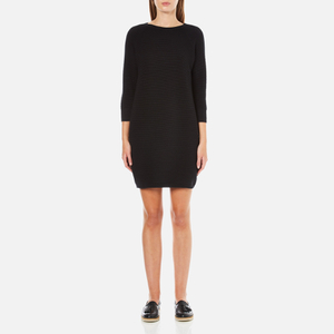 French Connection Women's Mozart Ripple Roundneck Jumper Dress - Black