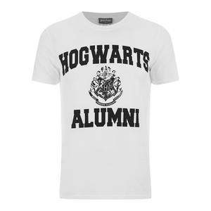 Harry Potter Men's Hogwarts Alumni T-Shirt - White: Image 1