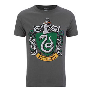 Camiseta Harry Potter Escudo Slytherin - Hombre - Gris