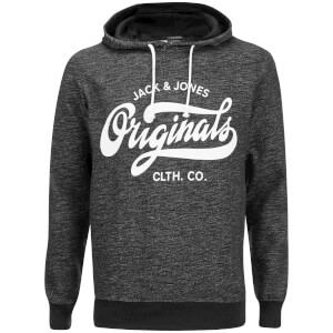 Jack & Jones Men's Originals Break Hoody - Dark Grey Melange