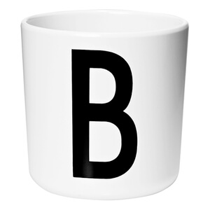 Design Letters Kids' Collection Melamin Cup - White - B