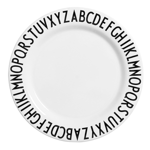 Design Letters Kids' Collection Melamin Plate - White