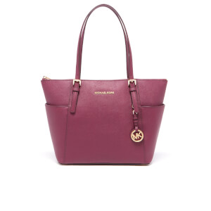 MICHAEL MICHAEL KORS Women's Jet Set Side Pocket Tote Bag - Plum