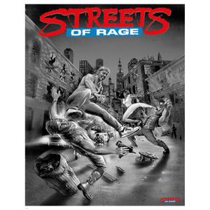 Streets of Rage Zwart/Wit Limited Edition Giclee Art Print - 72 uur beschikbaar