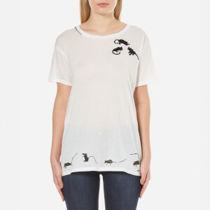 Marc Jacobs Women's Skater T-Shirt with Mice Emblem - White