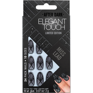 Elegant Touch Trend After Dark Nails - Sheer Black Matte/Miss Lead
